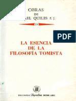 Quiles Ismael - Volumen 19 - La Esencia De La Filosofia Tomista (1990).PDF