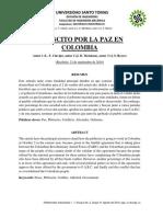 Plebiscito por la paz-Taller 2 Materiales Industriales I – 3B – Grupo 02 – Mendoza – Clavijo – Reyes
