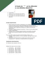 Medición Del Gasto de H2O en Los Diferente Tubos Con Distintos Diámetros