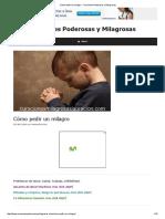 Cómo Pedir Un Milagro - Oraciones Poderosas y Milagrosas