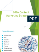 2016 Content Marketing Strategy