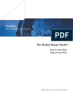 Market Impact Model - Nicolo G. Torre, Ph.D. Mark J. Ferrari, Ph.D.