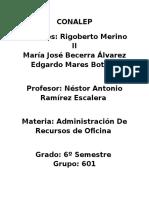 administración de recursos de oficina