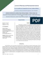 Formulation and Evaluation of Levofloxacin Nanoparticles by Ionic Gelation Method 7 15