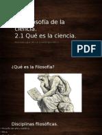 Filosofía de La Cienca