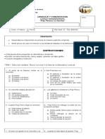 evaluación 4° fray perico y su borrico