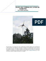 Construccion Turbina de 10 Pies Diámetro Con Veleta Oscilante - Aerogenerador
