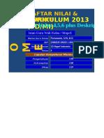 Aplikasi Raport SD K_13 Kelas 456 Versi 07.00.14