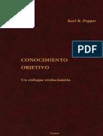 Popper Conocimiento Objetivo. Un Enfoque Evolucionista Tecnos 2001 1