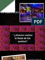 Texto Promocional-Salon de Recepcion El Balconcito