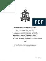 Operações Unitarias I - Orofino Pinto