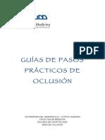 Guías de Pasos Prácticos de Oclusión 2015 UDD