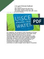 Irish Water to get €660m bailout