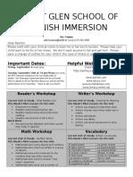 kindergarten newsletter 16-9-6