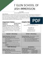 kindergarten newsletter 16-9-12