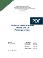 gas como materia prima de la petroquimica
