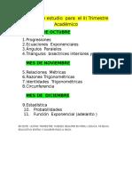 Temas de Estudio Para El III Trimestre Académico