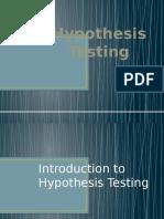 Hypothesis Testing Ztest