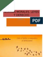 Tema 9 Normas Morales, Leyes y Derecho