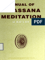 501. Manual of Vipassana Meditation