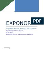 Impacto de La Industria Minera en Exponor
