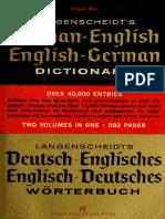 Langenscheidt's German-English, English-German Dictionary (1970)