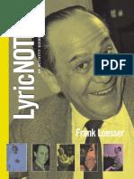 Frank Loesser Lyric Notes