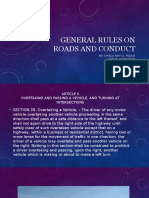 Gen Rules on Roads and Conduct