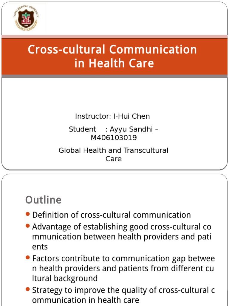 Cross-cultural communication in health care | Cross Cultural