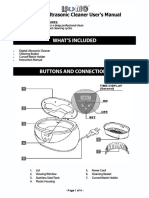 Ultrasonic Cleaner User's Manual