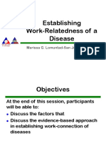 Establishing the Work-Relatedness of Diseases