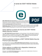 Como Conseguir El Serial de Eset Nod32 Mobile Security Premium 24474 Nyeivt