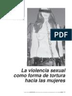 Chile, Violencai Sexual y Tortura de Mujeres