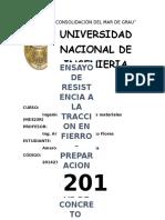 ANÁLISIS DE TRACCIÓN DE ACERO
