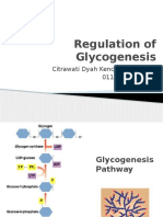 Regulation of Glycogenesis