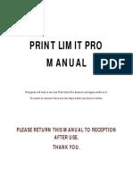 Print Limit Pro Manual