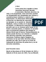 Brandt Derecho de Prima Face y Jose Ferrarter Mora
