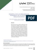 Desarrollo de Las Habilidades Del Pensamiento en Los Dif. Niv. Educ.