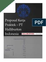 138036246 Proposal KERJA PRAKTEK PT Halliburton Indonesia Universitas Indonesia(1)