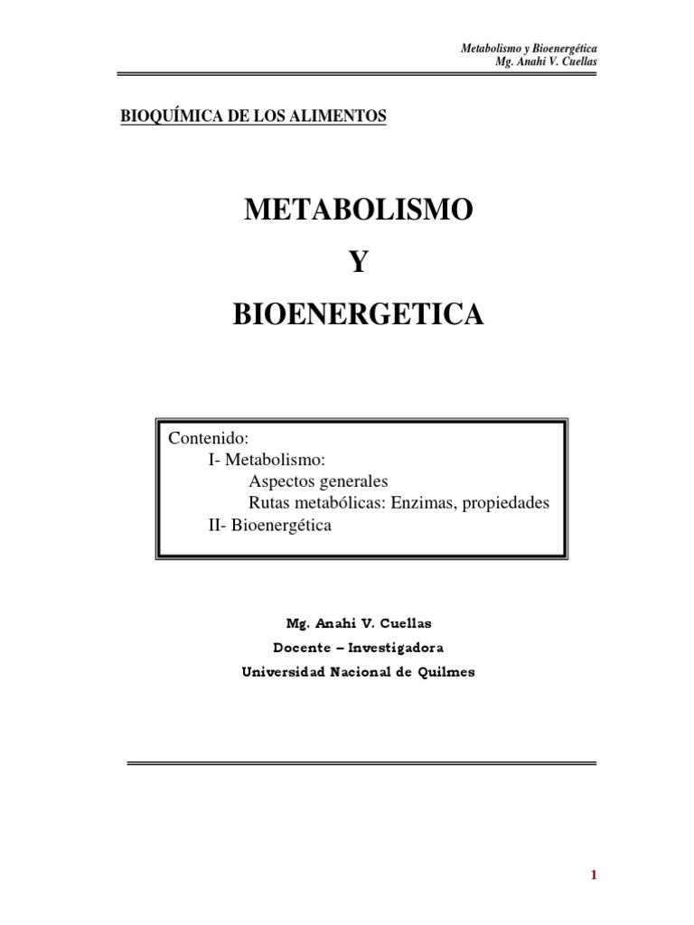 Los fundamentos de Metabolismo y nutricion revelados