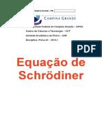 Equação Independente do Tempo de Schrodinger