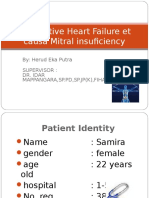 Congestive Heart Failure Et Causa Mitral Insuficiency