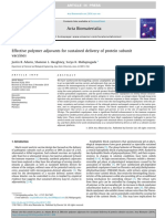 Effective Polymer Adjuvants for Sustained Delivery of Protein Subunit