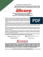 Prospecto Complementario Alicorp