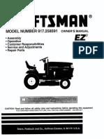 Craftsman Riding Mower 917.258591