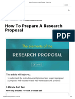 How to Prepare a Research Proposal - Thesis Hub