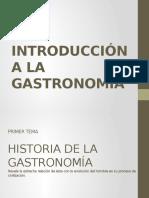 Prehistoria y Edad Antigua de la gastronomía.