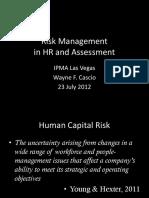 Risk Management in HR