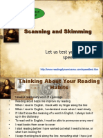 Scanning and Skimming