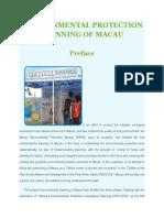 Environmental Protection Planning of Macau